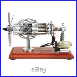 16 Cylinder Hot Air Stirling Engine Motor Model Creative Steam Power Engine Toy