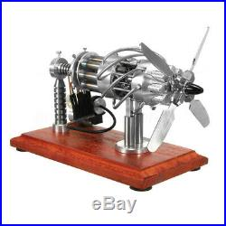 16 Cylinder Hot Air Stirling Engine Motor Model Steam Power Educational Toy