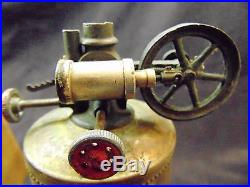 1885 Weeden Upright Steam Engine Toy No 1 Copper Boiler Beautiful Patina Antique