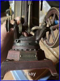 1902 antique Ernst Plank Vertical Steam Engine toy Cosmos #160/3S