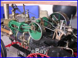 1912 Case 75 HP operational steam engine sales sample traction engine 45 in long
