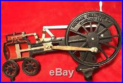 1920's Central Scientific Co Cast Iron Steam Engine Working Model Chicago, ILL