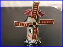 1920's Germany Bing Lithographed Tin Steam Engine Toy Windmill