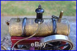 1920's WEEDEN Model 14 Live Steam Engine Toy Cast Iron, Tin, Steel, and Brass