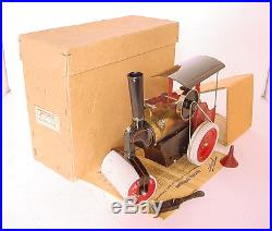 1930s FLEISCHMANN 9.5 MODEL STEAM ENGINE ROAD ROLLER 1ST. NR. 155/1 BOXED