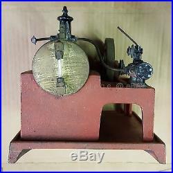 1930s antique WEEDEN #648 ELECTRIC HORIZONTAL STEAM ENGINE miniature