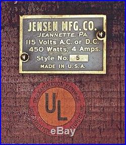 1940's Jensen No. 5 Steam Engine Original Box 115 Volts Runs Like A Top