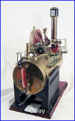 1945-69 Fleischmann toy steam engine 124/4 made Germany 18 in. Tall special fuel
