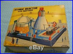 1954 LINEMAR ATOMIC REACTOR w Battery Steam Engine Toy Vintage Antique BOX A++++
