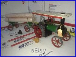 1/16 MAMOD TE1A WORKING STEAM ENGINE POWERED TRACTOR WithLUMBER WAGON&WHISTLE! 229