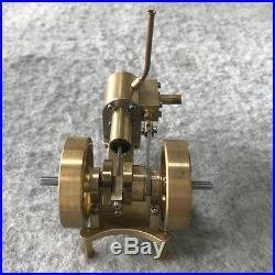 2 Flywheel Mini Steam Engine Tractor Model Toy DIY Micro Steam Generator Motor