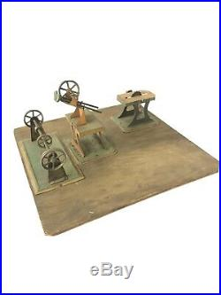 3 PC Vintage Weeden Steam Engine Toy Tools Lot Tin Litho