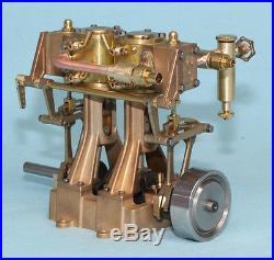 5001RC Mildura Twin Cylinder Vertical Model Steam Engine RC Reversing