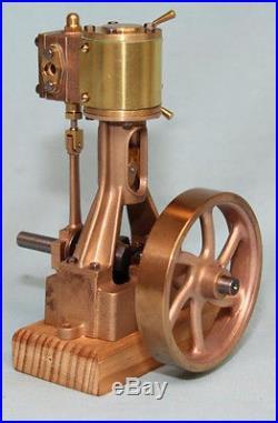 5002S Echuca Single Cylinder Vert. Steam Engine Non Reversing -Spoke Flywheel