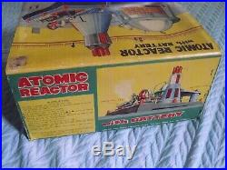 50's Vintage Linemar Japan ATOMIC REACTOR STEAM ENGINE Toy w Great-shaped Box