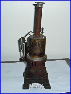 ANTIQUE 1920s MARKLIN BAVARIAN VERTICAL STEAM ENGINE MOVES FREELY RARE TOY