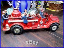 Antique Cast Iron Arcade Fire Truck Steam Engine Toy Original Old Rare Pumper