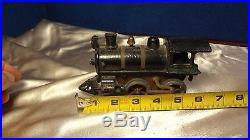 Antique Cast Iron Steam Engine Model Clockwork Toy Train Working Condition #2