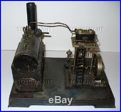 Antique Doll Steam Engine Model Live Toy Germany Horizontal Marine 2 Valve 360