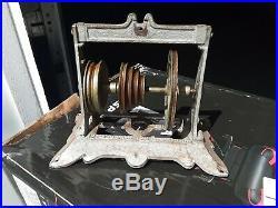 ANTIQUE SALESMAN SAMPLE STEAM ENGINE MODEL wheels NYC cast iron steam punk