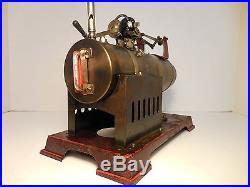 Antique / Vintage Josef Falk Live Steam Engine. Old Toy Machine