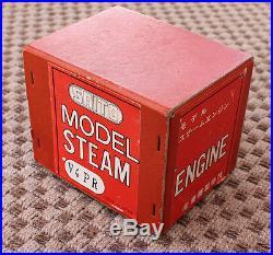 ANTIQUE VINTAGE Model Saito V4 PR V4 Live Steam Engine & Box for Steam Boat
