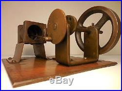 ANTIQUE / VINTAGE SMALL LIVE STEAM ENGINE FLAME LICKER OLD TOY / MODEL