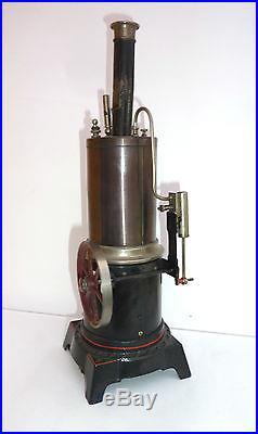 ANTIQUE VINTAGE VERTICAL LIVE STEAM ENGINE BOILER TOY D & CO DC 56 1/8 GERMANY