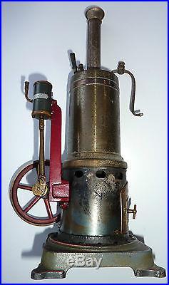ANTIQUE VINTAGE VERTICAL LIVE VERTICAL STEAM ENGINE BOILER BING TOY