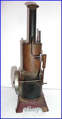 ANTIQUE VINTAGE VERTICAL LIVE VERTICAL STEAM ENGINE BOILER TOY