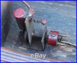 ANTIQUE Vintage Live Steam Engine Wood Wooden Toy Pond Model Steam Boat Boucher