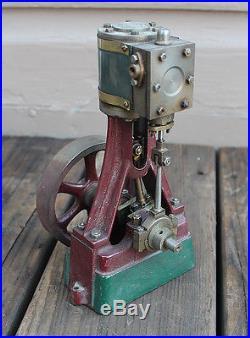 ANTIQUE Vintage Vertical Live Steam Engine Stuart or Unknown Maker 7.5 Inches