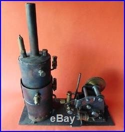 AUC3 Bespoke Vintage Australian Upright Steam Engine Model Twin Piston assembly