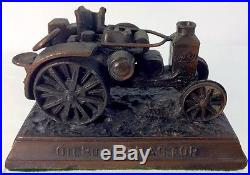 Advance Rumley Oil Pull Tractor Steam Engine Paperweight Bronze Farm Equipment