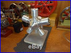 Air or Steam Engine 5 Cylinder Rotary Radial #004 by A-1 Machining Superb Build