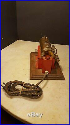Antique 43 Weeden Electric Toy Steam Engine Wood Base Missing Smoke Stack
