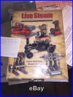 Antique Anton Bohaboy Model Steam Engine And Boiler