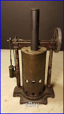 Antique Carrette Germany Upright Steam Engine Toy Unusual +Early