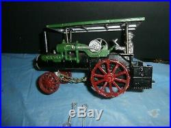 Antique Cast Aluminum Case Steam Traction Engine Toy