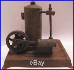 Antique Cast Bronze Steel Live Steam Engine Mini Class Room Model ELECTRO as is