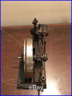 Antique Cast Iron Brass Steam Engine Toy Model All Original