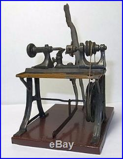 Antique Detailed Man Working on Machine. Lithorghed Tin for live steam engine. 20s