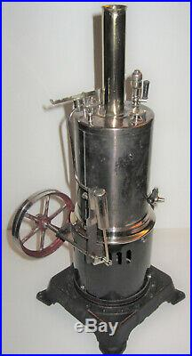 Antique Doll Vertical Electric Steam Engine American Bing Conversion Marklin