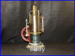 Antique EP Live Steam Engine Model Large Tin Toy a+ Condition Governor & Whistle