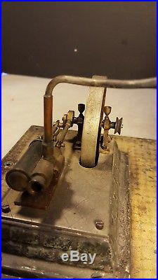 Antique E. Plank Germany Toy Steam Engine Power Plant Early Industrial Project