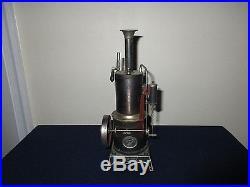 Antique Ernst Plank Germany Hercules Vertical Metal Tin Steam Engine Machine Toy