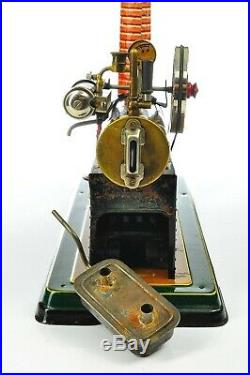 Antique German Geb. Bing Steam Engine Rare Model with Dynamo approx. 19025