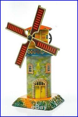 Antique German Geb. Bing Windmill with Music box Rare Model approx. 1925