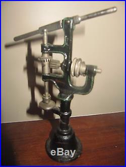 Antique German Marklin Drill Press Steam Engine Accessory Cast Iron Base