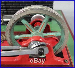 Antique German Marklin Horizontal Live Steam Engine Model 4097/5 Tin Toy & Box
